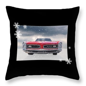 Festive Pontiac Gto Throw Pillow