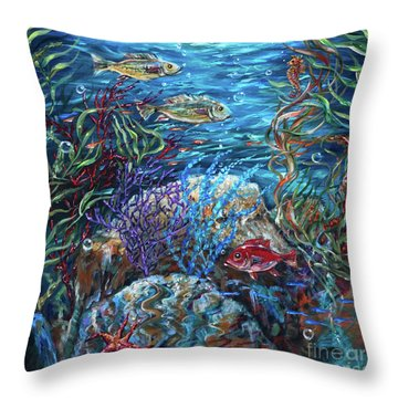 Festive Reef Throw Pillow