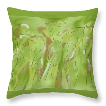 Few Figures Throw Pillow by Mary Armstrong