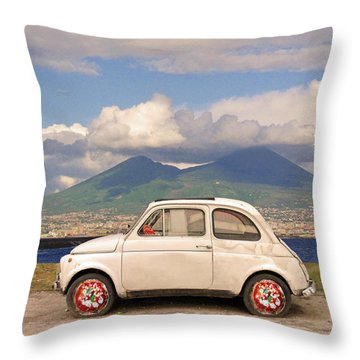 Fiat 500 Pizza Throw Pillow