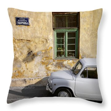 Fiat 600. Belgrade. Serbia Throw Pillow