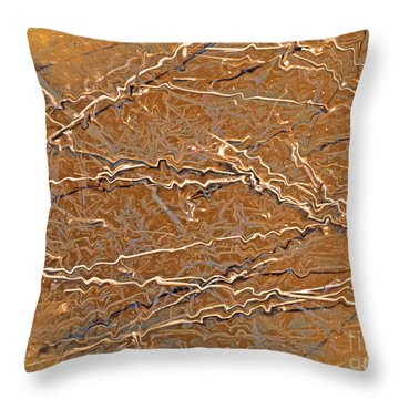 Fiber Abstract Throw Pillow