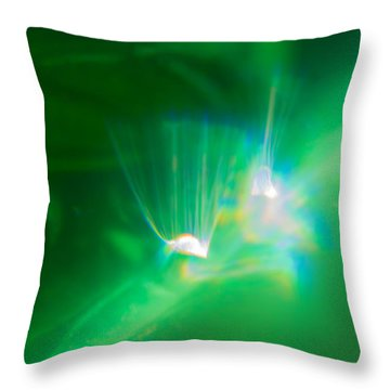 Throw Pillow featuring the photograph Fibers by Greg Collins
