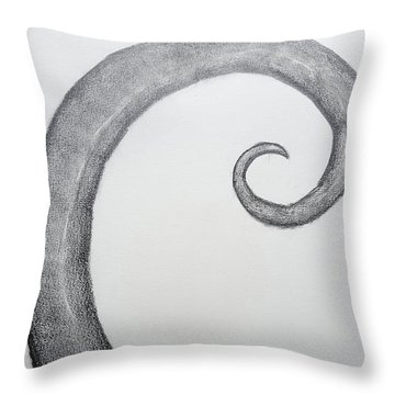 Fibonacci Spiral No.1 Throw Pillow