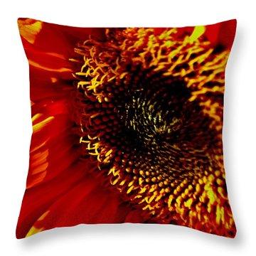 Fickle Sunflower Throw Pillow