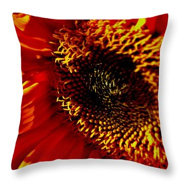 Fickle Sunflower Throw Pillow