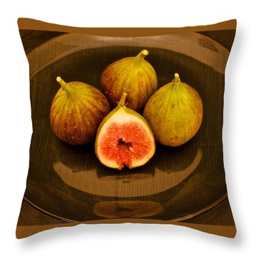 Ficus Carica Common Fig Throw Pillow