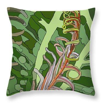 Fiddlehead Throw Pillow by Jamie Downs