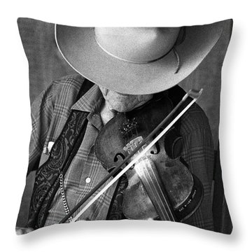 Fiddler #1 Throw Pillow by Jim Mathis
