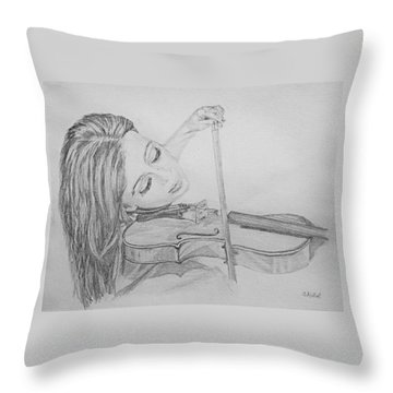 Fiddler Throw Pillow by Sheryl Gallant