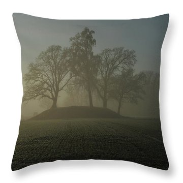 Fiddler's Mound Throw Pillow