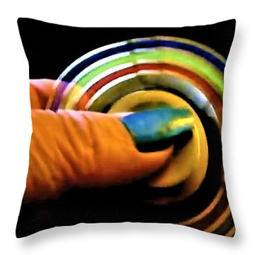 Throw Pillow featuring the photograph Fidgets by Denise Fulmer