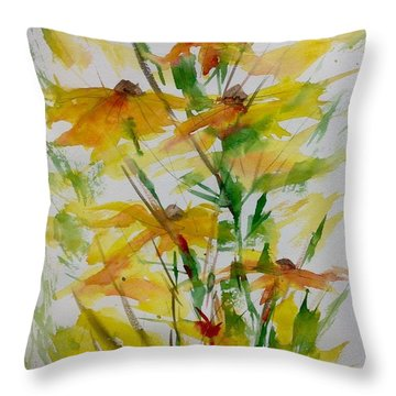 Field Bouquet Throw Pillow