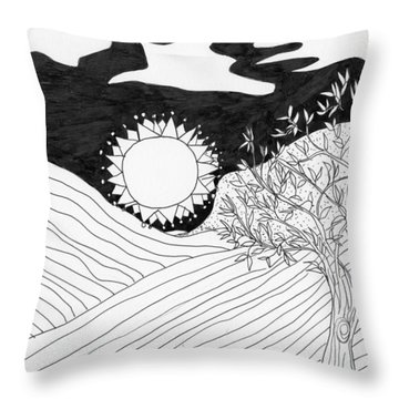 Throw Pillow featuring the painting Field Day by Lou Belcher