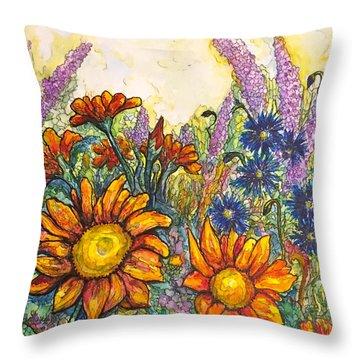 Field Flowers #2 Throw Pillow