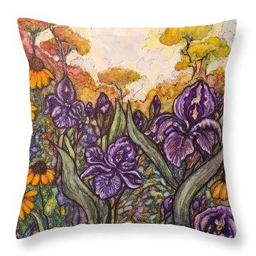 Field Flowers #3 Throw Pillow