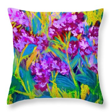 Throw Pillow featuring the photograph Field Flowers by Shirley Moravec