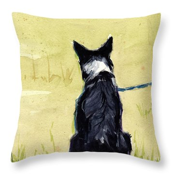 Field Greens Throw Pillow by Molly Poole