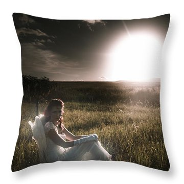 Throw Pillow featuring the photograph Field Of Dreams by Jorgo Photography - Wall Art Gallery