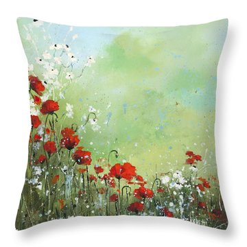 Field Of Imagination Throw Pillow by Laura Lee Zanghetti