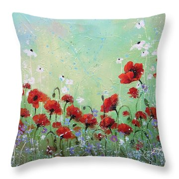 Field Of Imagination Two Throw Pillow by Laura Lee Zanghetti