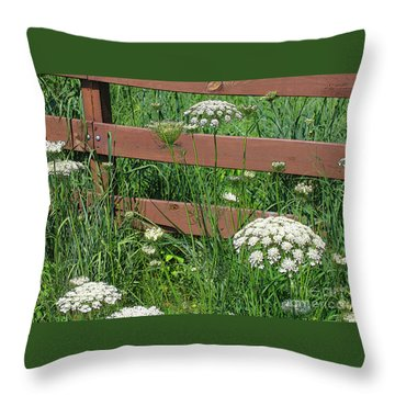 Throw Pillow featuring the photograph Field Of Lace by Ann Horn