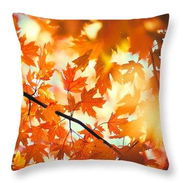 Field Of Orange Throw Pillow