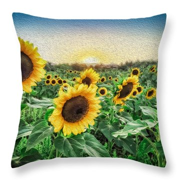 Field Of Sun Throw Pillow
