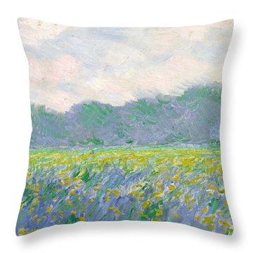 Irises Throw Pillows