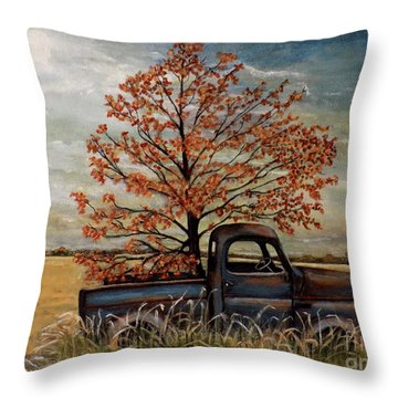 Field Ornaments Throw Pillow