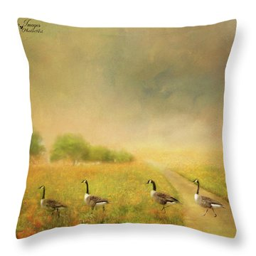 Field Trip Throw Pillow by Wallaroo Images