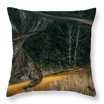 Field Warping Throw Pillow