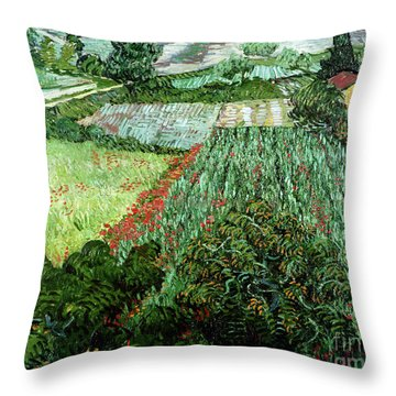 Field With Poppies Throw Pillow by Vincent Van Gogh