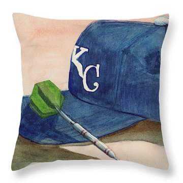 Fielder Throw Pillow by Terry Lewey