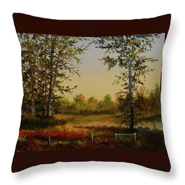 Fields And Trees Throw Pillow