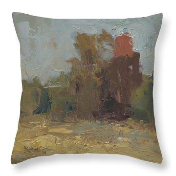 Fields Edge In Autumn Throw Pillow