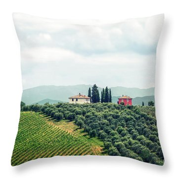 Fields Of Heavenly Delights Throw Pillow