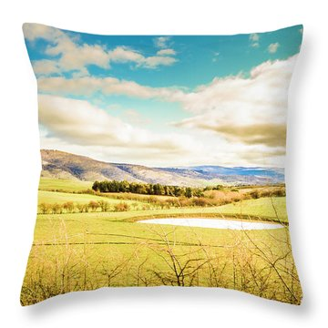 Fields Of Plenty Throw Pillow