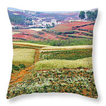 Fields Of The Redlands-1 Throw Pillow