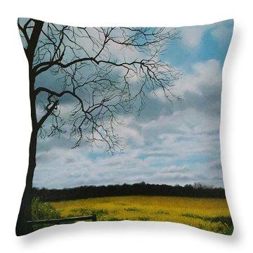 Fields Of Yellow Throw Pillow