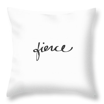 Fierce - Art By Linda Woods Throw Pillow