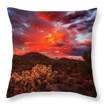 Throw Pillow featuring the photograph Fierce Beauty by Rick Furmanek