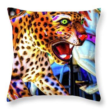 Fierce Cheetah Throw Pillow