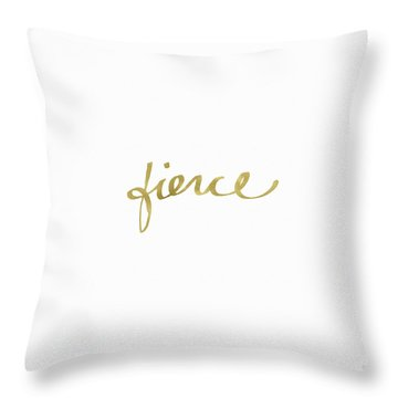 Fierce Gold- Art By Linda Woods Throw Pillow