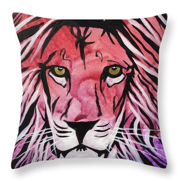 Throw Pillow featuring the painting Fierce Protector 1 by Nathan Rhoads