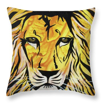 Throw Pillow featuring the painting Fierce Protector 2 by Nathan Rhoads