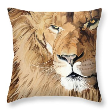 Fierce Protector Throw Pillow by Nathan Rhoads