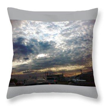 Fierce Skies Throw Pillow