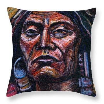 Fierce Warrior Throw Pillow by John Keaton