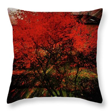 Fiery Dance Throw Pillow by Mimulux patricia no No